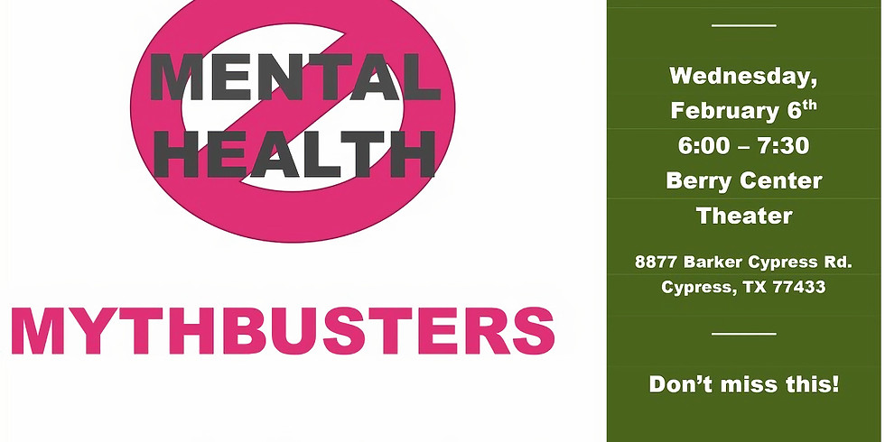 MENTAL HEALTH MYTHBUSTERS