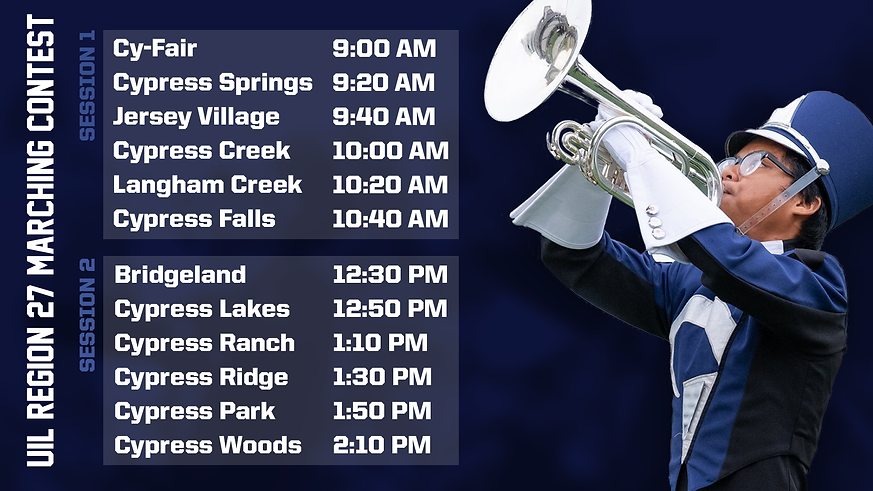 UIL Region 27 Marching Band Contest