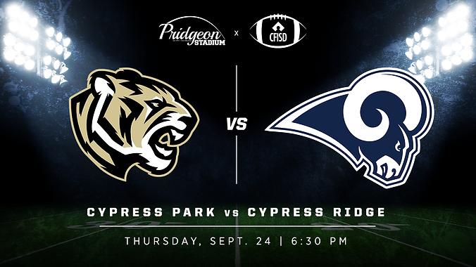 Cy Park vs Cy Ridge