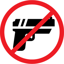 No Weapons (Open/Concealed Carry Prohibited)