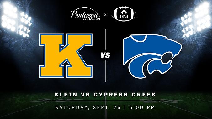 Klein vs Cy Creek