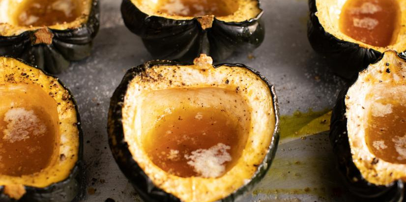 Buttery Maple Roasted Acorn Squash | What's Cookin' with Mike and Melvin