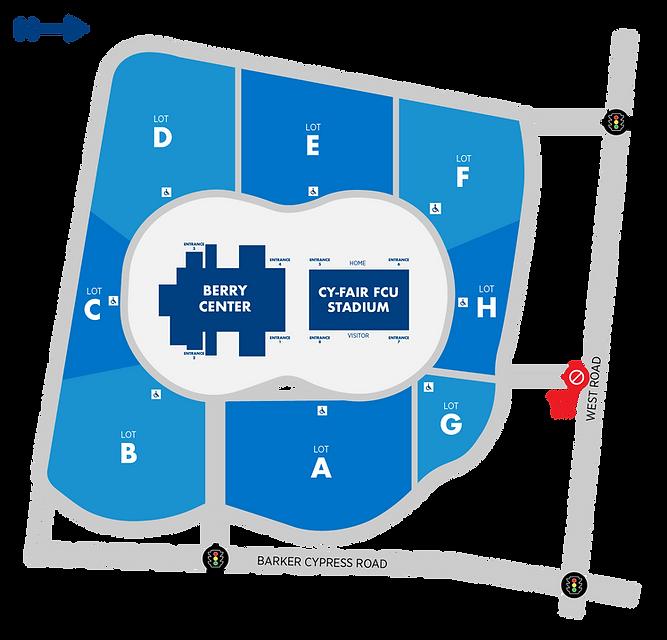 Berry Center Parking Map