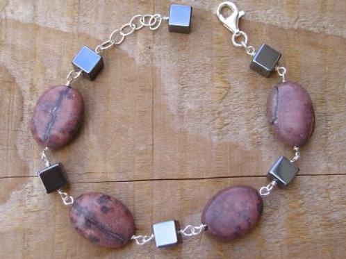 Crazy Horse Jasper and Hematite Bracelet