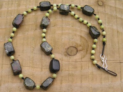 Rainforest Jasper Nugget necklace