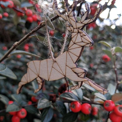 Lasercut Deer Hanging Decoration