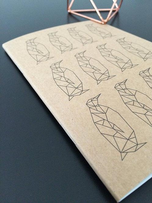 A6 Penguin Pattern Notebook