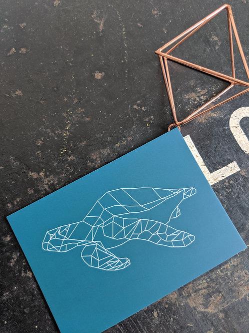 Sea Turtle Postcard Print