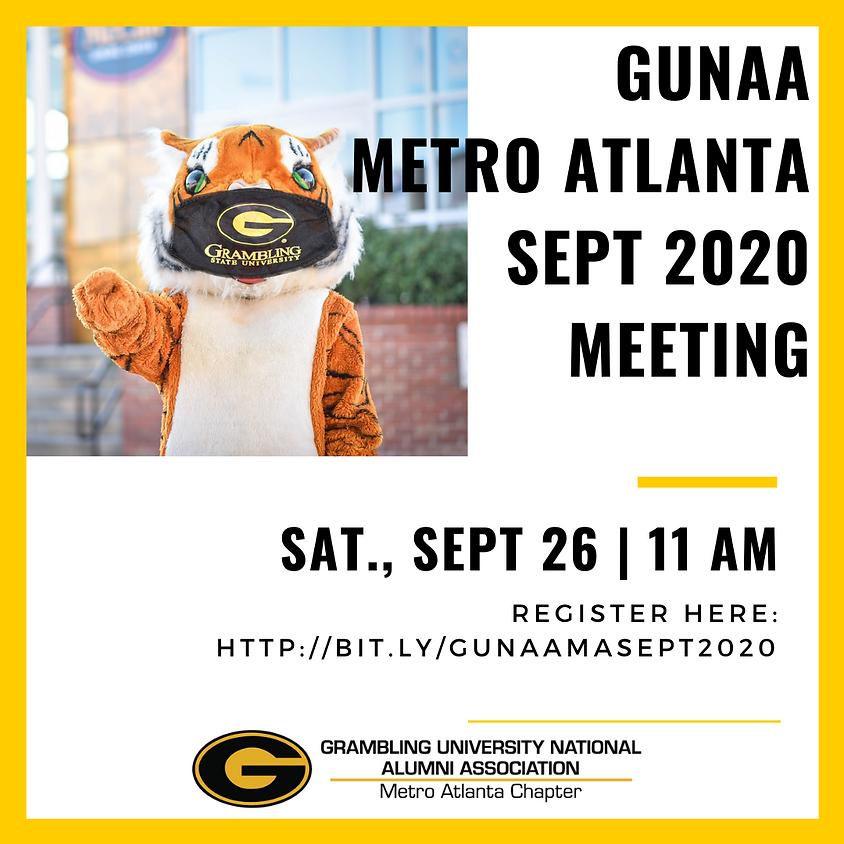 GUNAA - Metro Atlanta September 2020 General Meeting