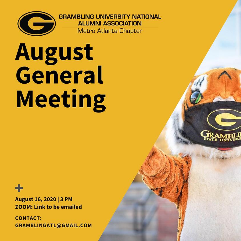 GUNAA - Metro Atlanta August 2020 General Meeting