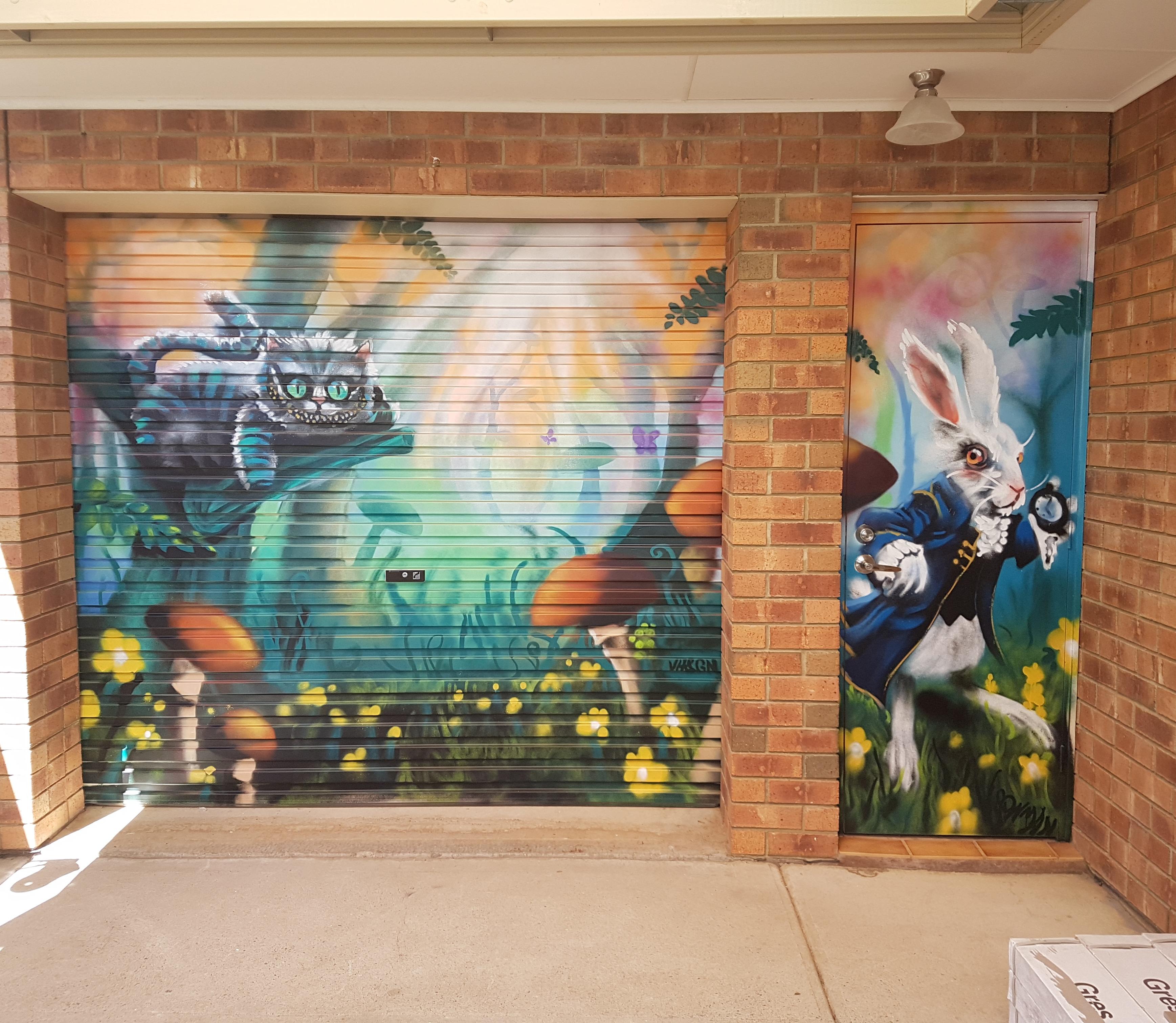 Roller door Mural