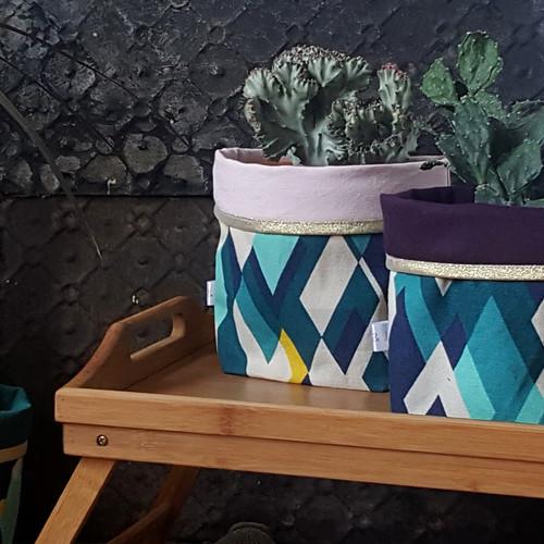 Gioia june décoration intérieur textile violet cache pot réversible coton made in france toulouse décoration