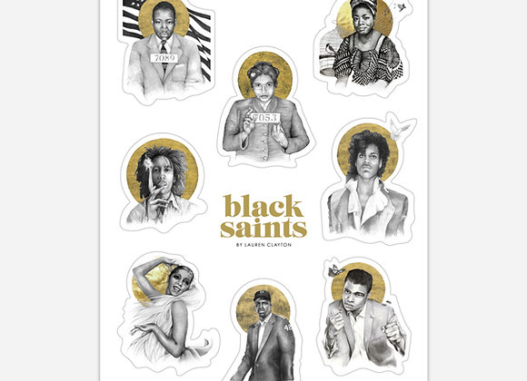 Black Saints Sticker Pack