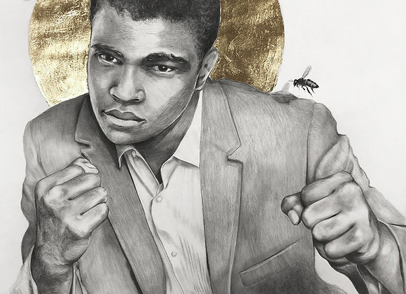 16 x 20 Portrait Print of Muhammad Ali Drawing by Lauren Clayton