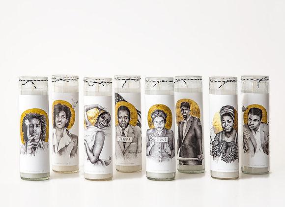 Bob Marley, Josephine Baker, Martin Luther King Jr, Prince, Josephine Baker Candle