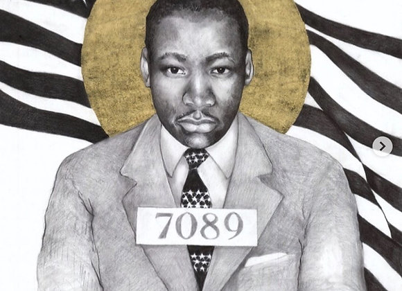 16 x 20 Portrait Print of Martin Luther King, Jr. Drawing by Lauren Clayton
