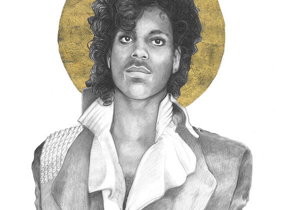 8 x 10 Portrait Print of Prince Drawing by Lauren Clayton