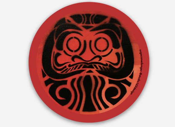 2' Daruma Doll Wish Sticker