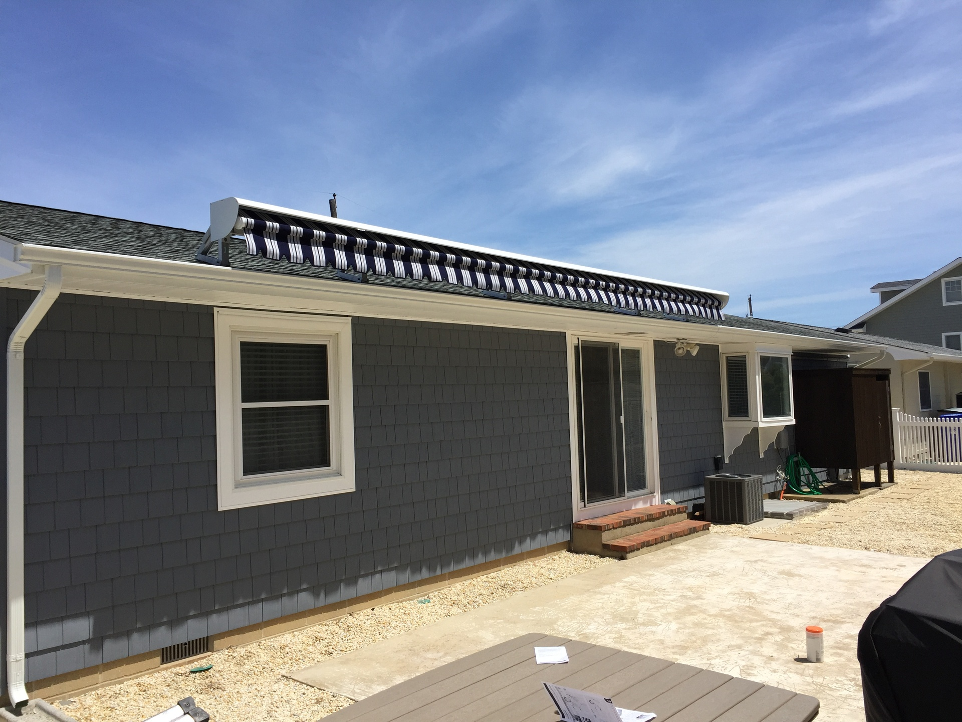 Roof Mount Retractable Awning Installation   Long Island NY