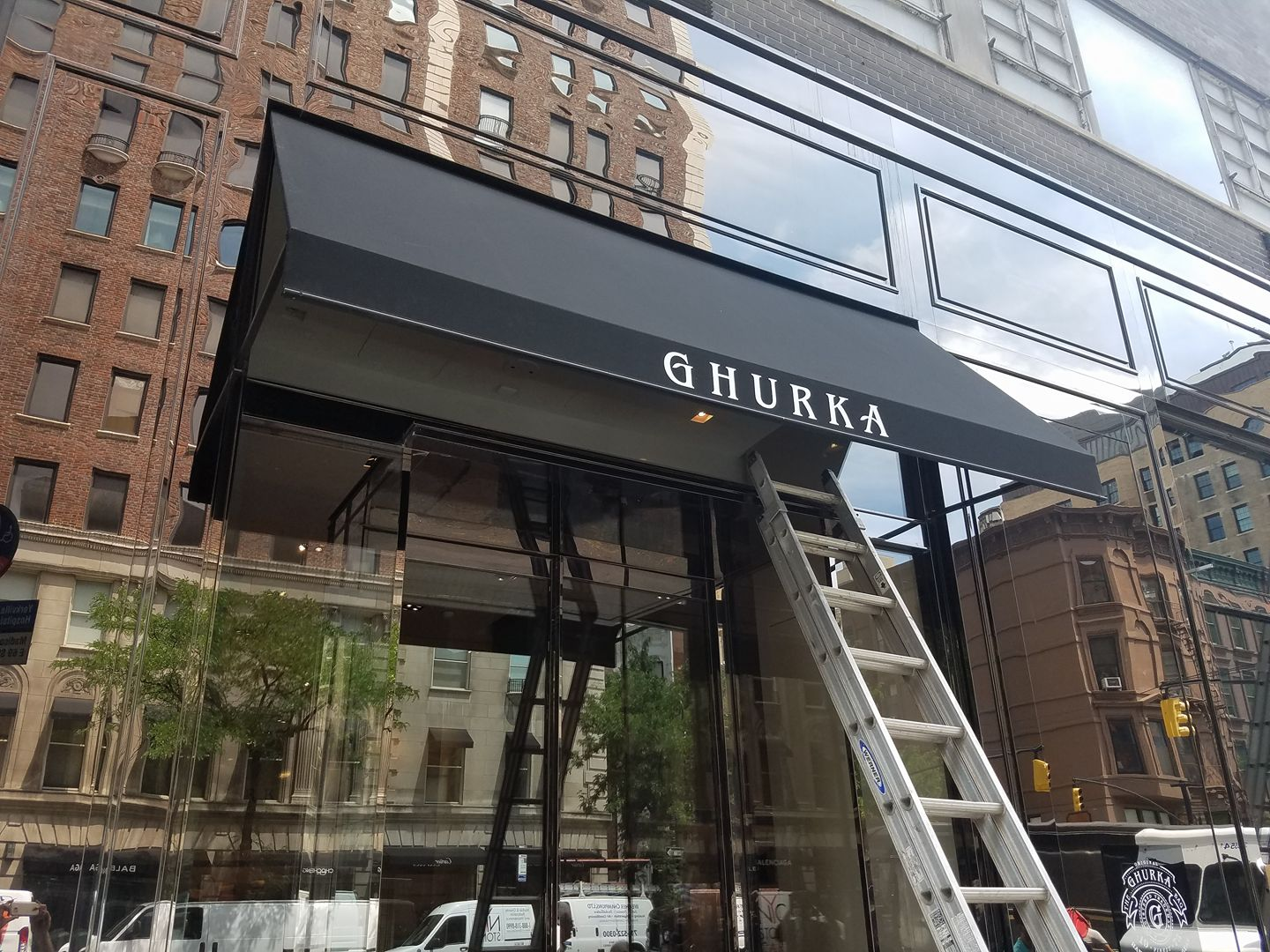 Open-Sided Stationary Awning | Glendale Awning Co