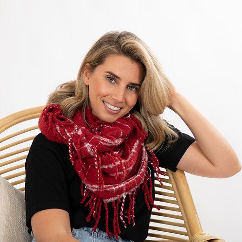 Doha Infinity Scarf - Red