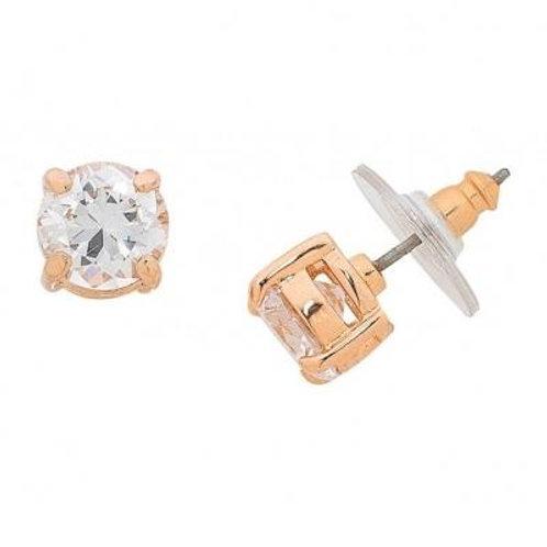 Ballet Rose Gold Stud Earring - Liberte