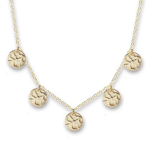 Gold Scattered Jingle Necklace - BIANC