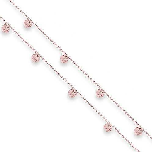 Rose Gold Scattered Jingle Long Necklace - BIANC