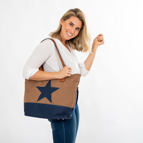 Lone Star Canvas Bag - Coffee