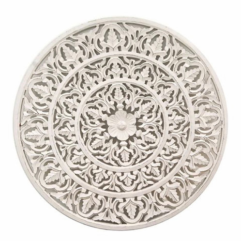 Round, Carved Wall Panel