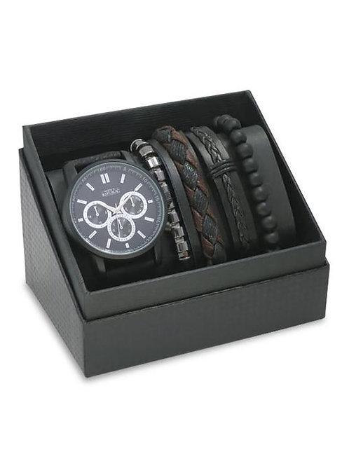 Men's Watch and 4 Bracelet Set