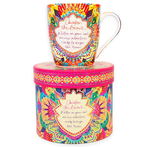 Kaleidoscope Tribe 'Awaken the Brave' Gift Boxed Mug