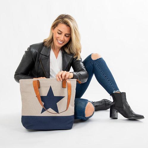 Lone Star Canvas Bag - Grey