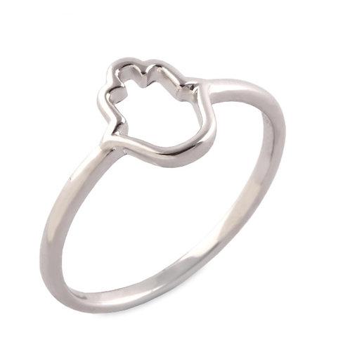 Silver Hamsa Ring (Size N) - BIANC