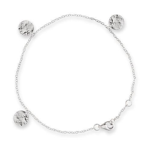 Silver Scattered Jingle Bracelet - BIANC