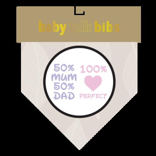 Baby Talk Bib - 100% Perfect