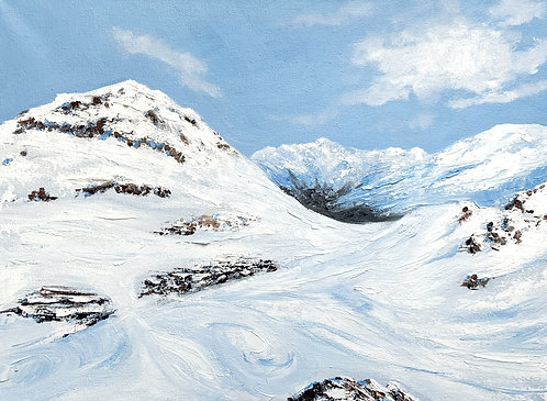 From Val to Tignes and back again (40cm x 30cm)