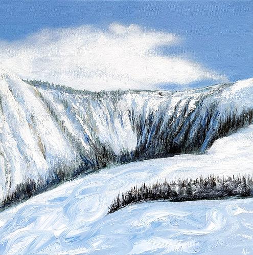 Ski Tracks (30cm x 30cm)