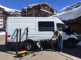 Ski tech in Tignes