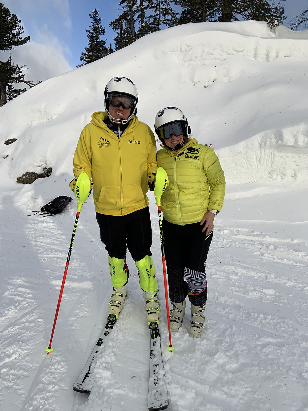 James and Alice ski training in Austria, 2019