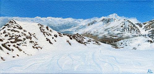 Leaving Grande Motte Glacier - Tignes