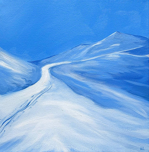 The Mountains Are Calling, Bad Kleinkircheim, Austria (30cm x 30cm)