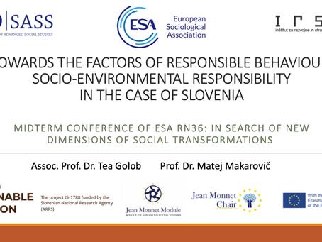 ESA RN 36 Conference