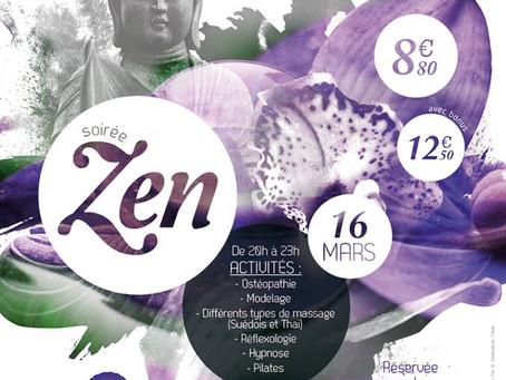 Soirée Zen Centre Nautique Conflans