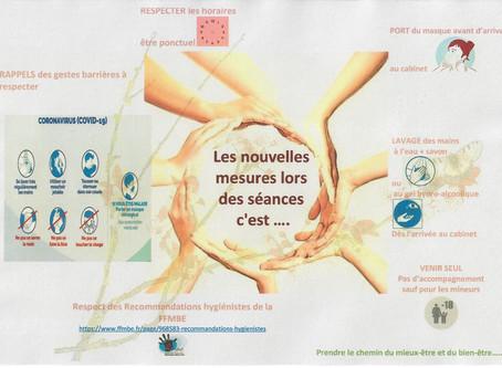 Reprise d'activité à compter du 15 juin 2020 nouvelles mesures lors des séances de massage