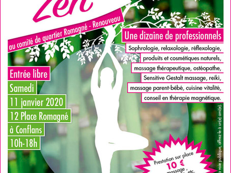Rendez-vous Zen à Conflans St Honorine le 11 janvier 2020