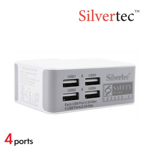 G1604 四埠 USB旅行充電器 (附4款插頭轉換)