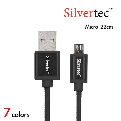 Double Micro Cable 22cm Black