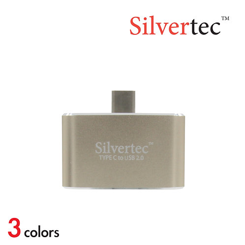 Type-C to USB 2.0 2 Ports Reversible Plug Gold