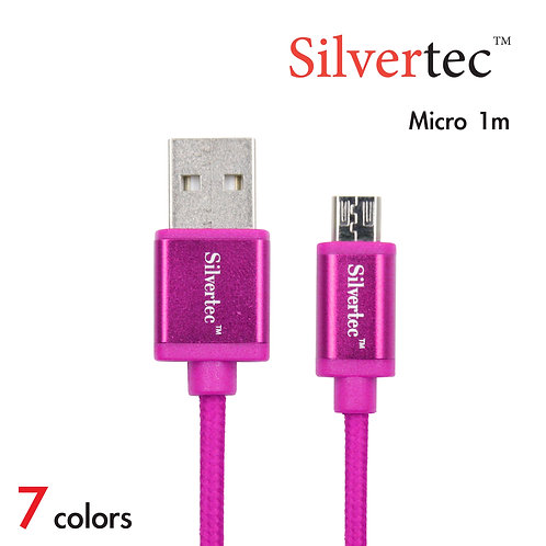 Double Micro Cable 1m Pink